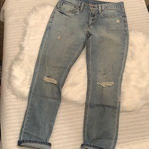 Levi's 511 original destroyed look jeans